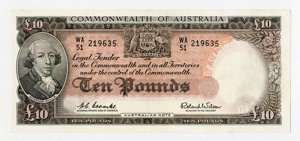 Commonwealth of Australia, Reserve Bank, 1960-65 lssue Banknote.