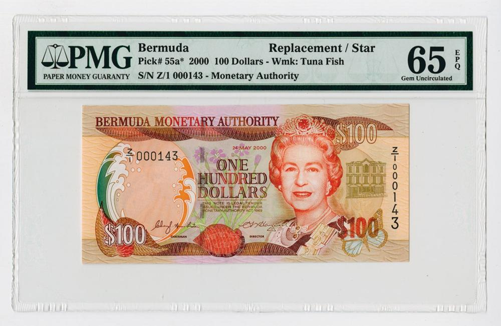 Bermuda Monetary Authority, 2000 Issue Replacement / Star Note.