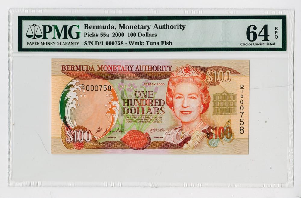 Bermuda Monetary Authority, 2000 Issue Note.