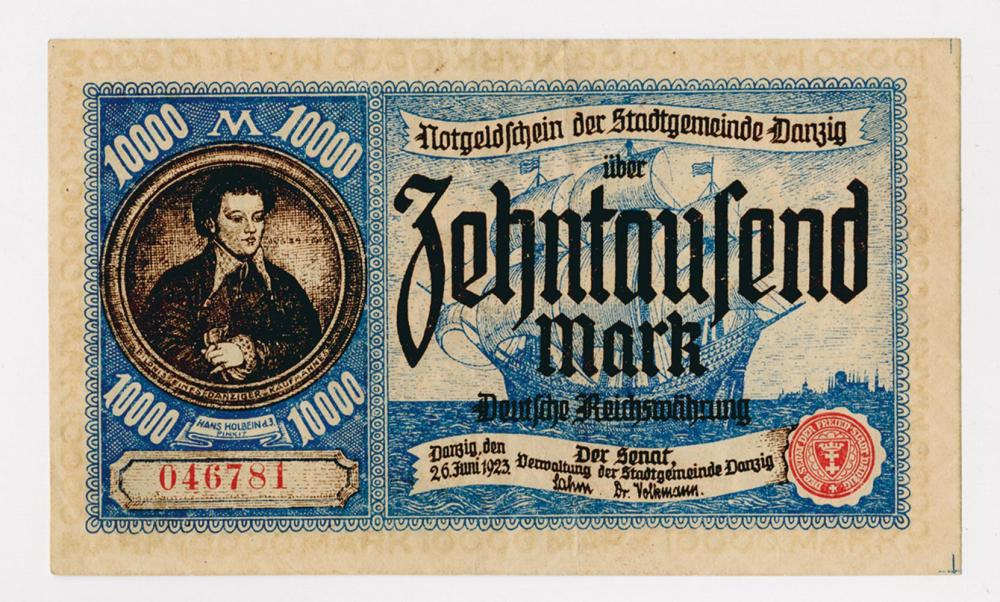 Der Stadtgemeinde Danzig, 1923 First Issue