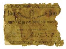 Banco Nacional Ultramarino, 1892 (1895) Emergency Issued Banknote.