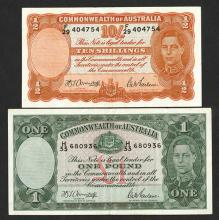 Commonwealth of Australia ND(1939-52) Bank Note Pair.