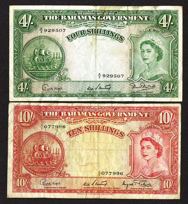 Bahamas Government. 1953 Issue.