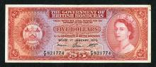 Government of British Honduras 1973 issued note