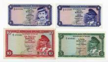 Kerajaan Brunei 1967;1972 Quartet of 4 Government Notes
