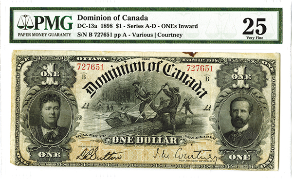 Dominion of Canada, 1898 ONEs Inward Issued Banknote.