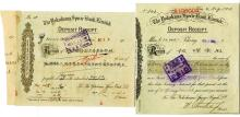 Yokohama Specie Bank Limited, 1913 to 1928 Deposit Receipts.