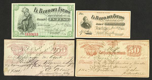 El Banco del Estado 1900 Bank Note Issue.