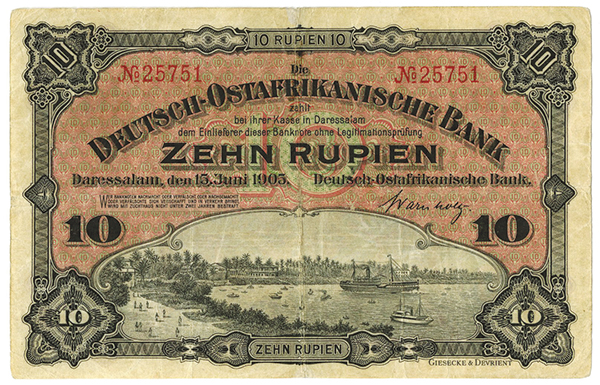 Deutsch-Ostafrikanische1905 Issue Bank.