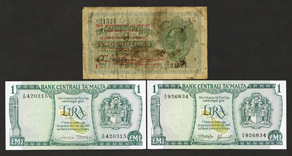 Government of Malta ND(1940) Provisional Bank Note Issue
