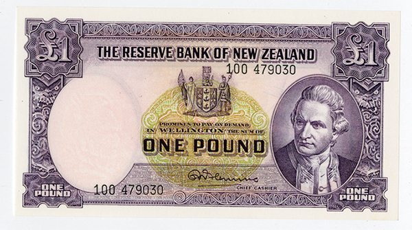 Reserve Bank of New Zealand, 1956-60 ND Issue.