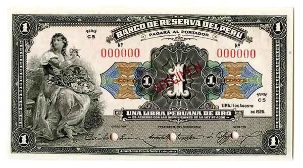 Banco De Reserva Del Peru, 1926
