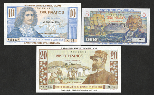 Caisse Centrale de la France d'Outre-Mer ND(1950) Bank Note Issue