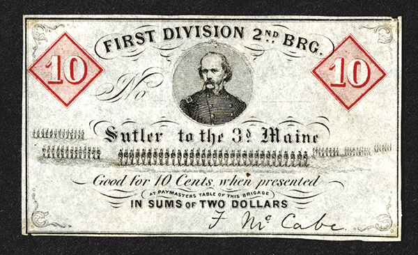 Sutler to the 3rd Maine. First Division, 2nd Brigade.