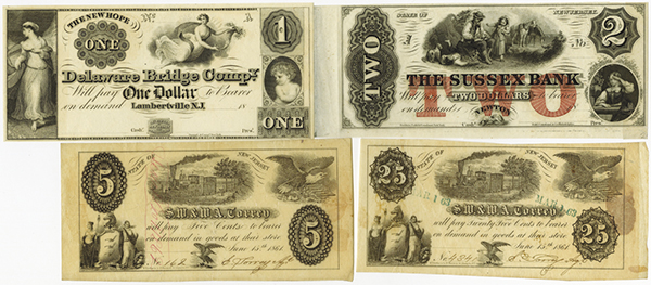 New Jersey Obsolete Banknote Assortment.