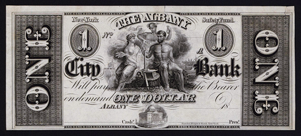 Albany City Bank, ca.1830's Obsolete Proof.