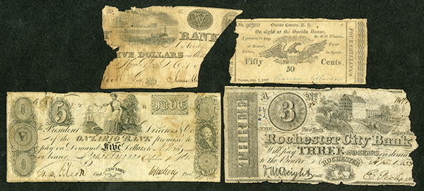 New York Obsolete Banknote Assortment.