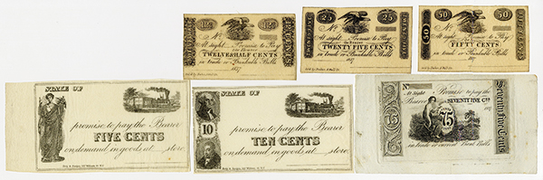 New York Printed Generic Obsolete Scrip Notes ca.1837.