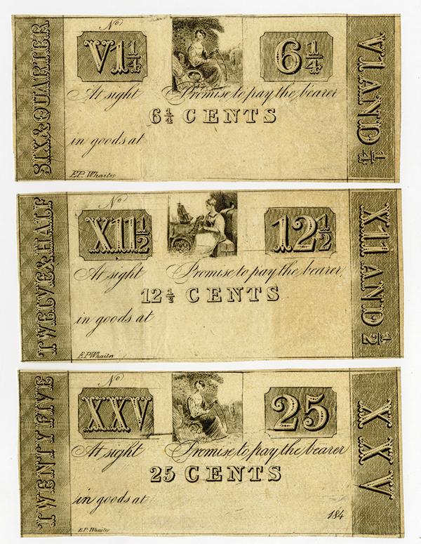 New York Printed Generic Obsolete Scrip Notes ca.1837.