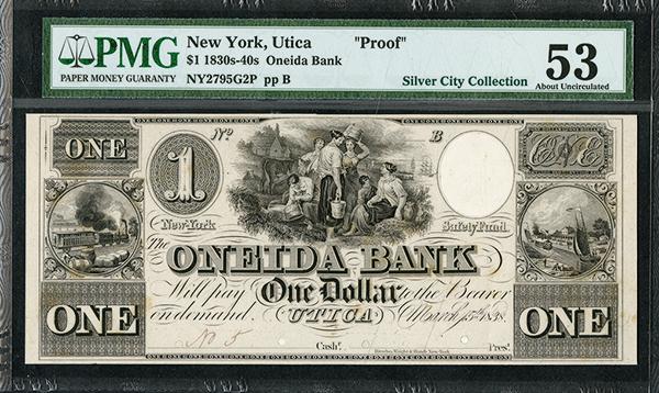 Oneida Bank, 1838 Obsolete Proof - SENC.
