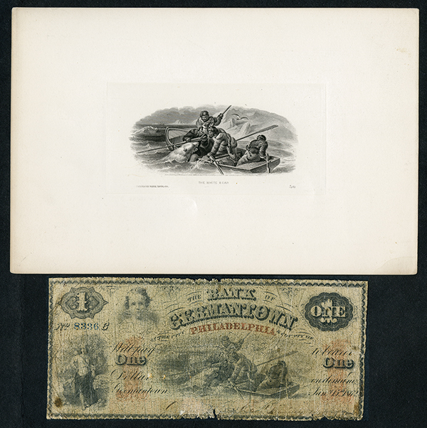 Bank of Germantown of the City of Philadelphia, 1862 Issued Obsolete Banknote.