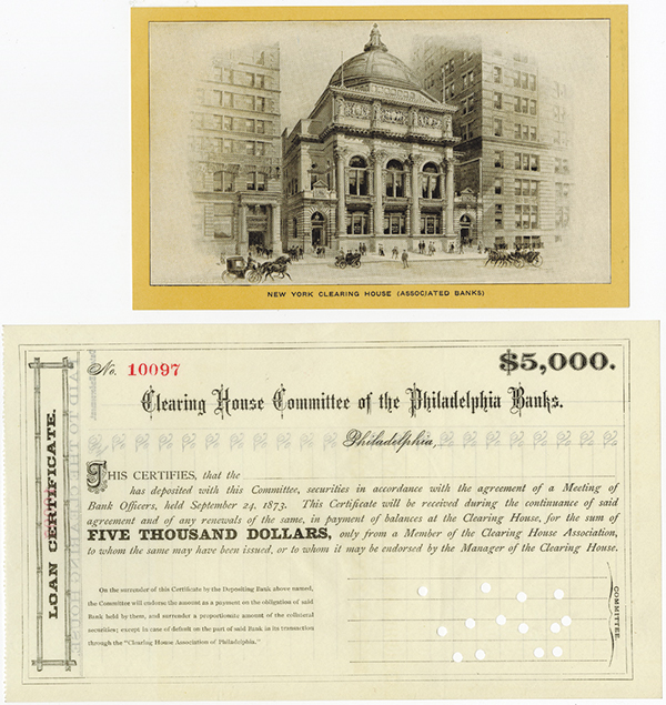Clearing House Committee of the Philadelphia Banks, 1873 Loan Certificate.