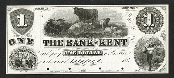 The Bank of Kent, ca.185x Proof Banknote.