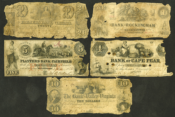 Southern State Banknote Group, ca. 1840-50's.