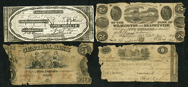 Obsolete Banknote Assortment with Faults.