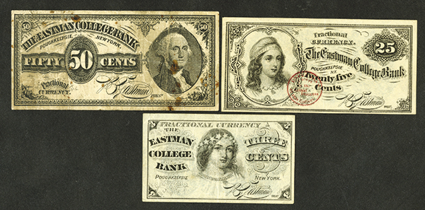 Eastman College Bank Practice Currency ND issues