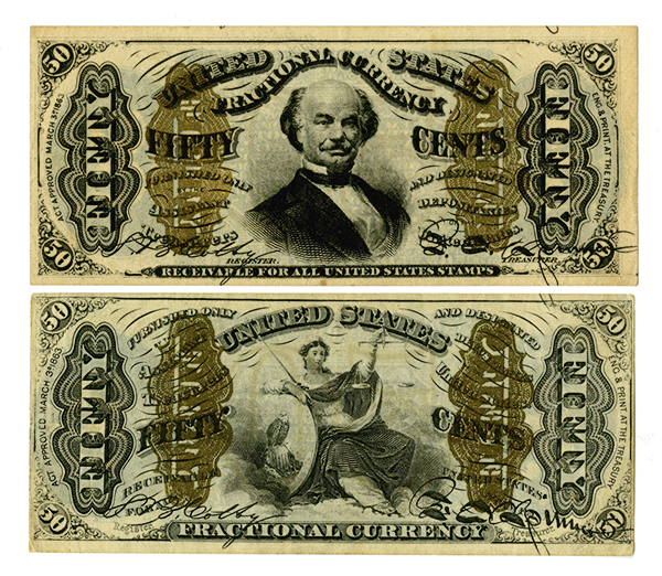 U.S. Fractional Currency, 3rd Issue Pair.
