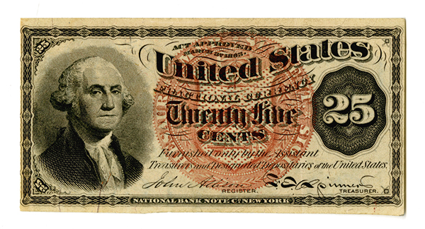 U.S. Fractional Currency, 4th Issue Note.