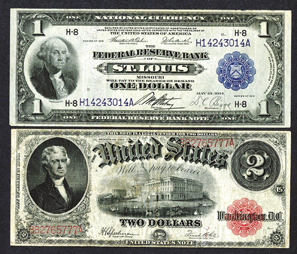 FRNB St. Louis 1918, Legal Tender Note 1917.