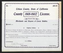 License from Colusa, 1901 California.