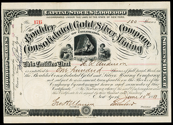 Boulder Consolidated Gold and Silver Mining Co.