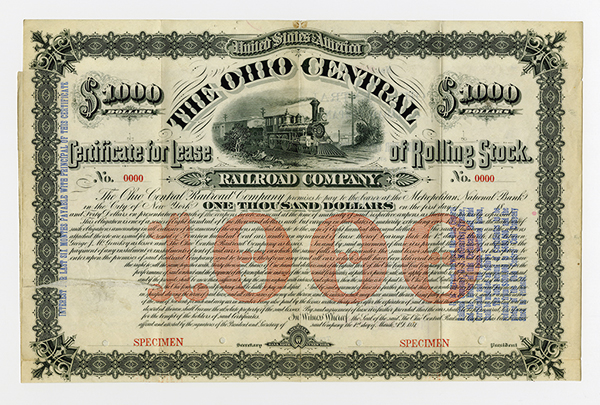 Ohio Central Railroad Co., 1881