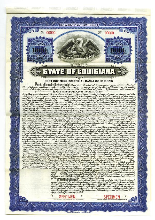 State of Louisiana, 1919