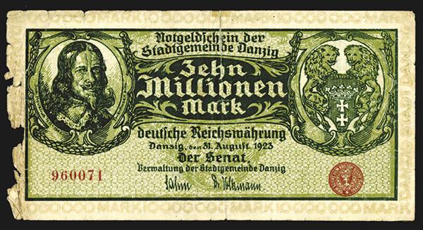 State of Danzig, Notgeld. 1923.