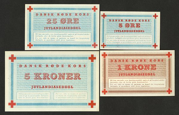 Jutland ND Red Cross Group of 4 Scrip