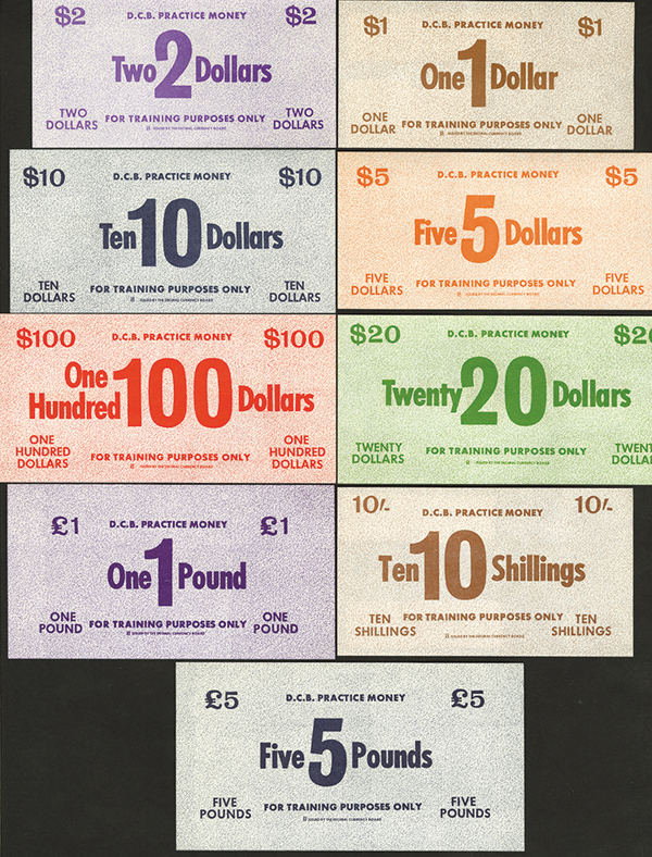 D. C. B. ND(1960's) Conversion Practice Currency Scrip Issue