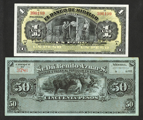 Banco de Hidalgo 1902-14 Bank Note Issue