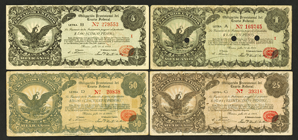 Obligation Provisional del Erario Federal. 1914 Issue.