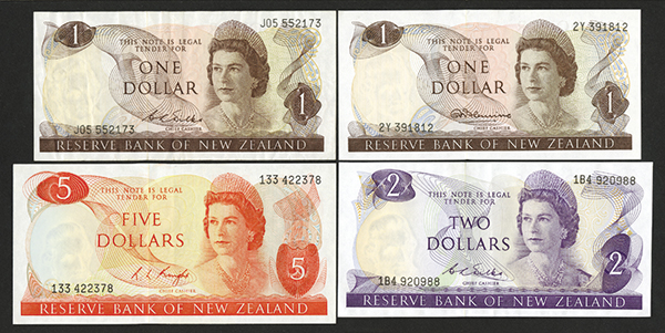 Reserve Bank of New Zealand ND(1967Ð77) Bank Note Issues