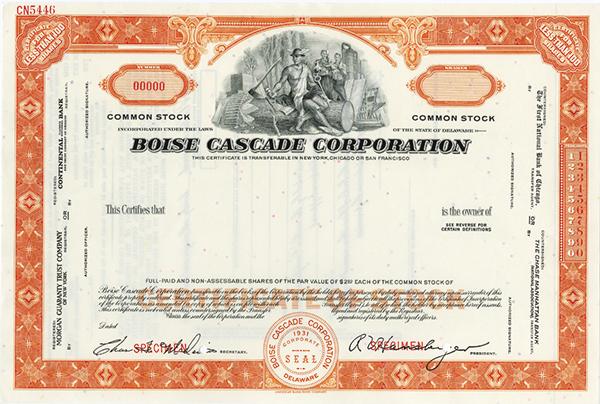 Boise Cascade Corp., ca.1930-1940 Specimen Stock