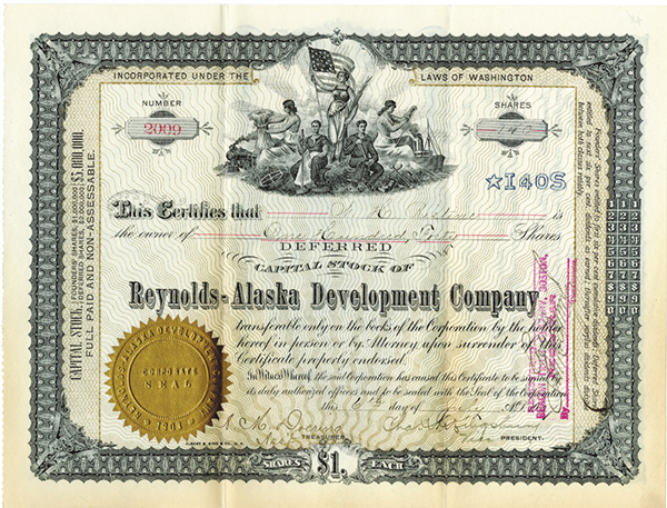 Reynolds- Alaska Development Co., 1907 Issued Stock