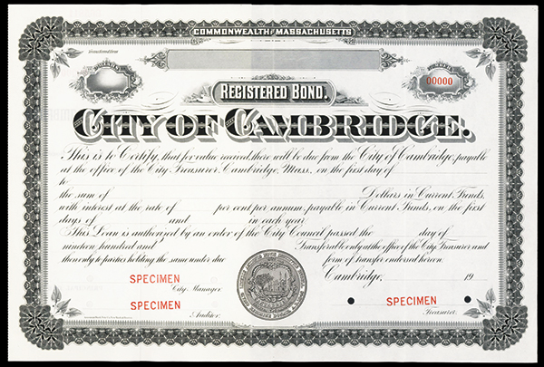 City of Cambridge, ca.1900-1920 Specimen Stock