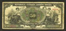 Republica Dos Estados Unidos do Brazil, 1916, Estampa 14A, Issued banknote.