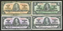 Bank of Canada, 1937 Banknote Assortment.