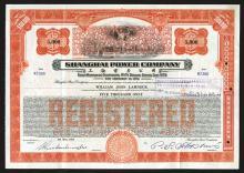 Shanghai Power Co., 1934 Issued Bond.