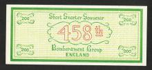 Short Snorter Souvenir - 458th Bombardment Group, ETO, England ca. 1943-45.